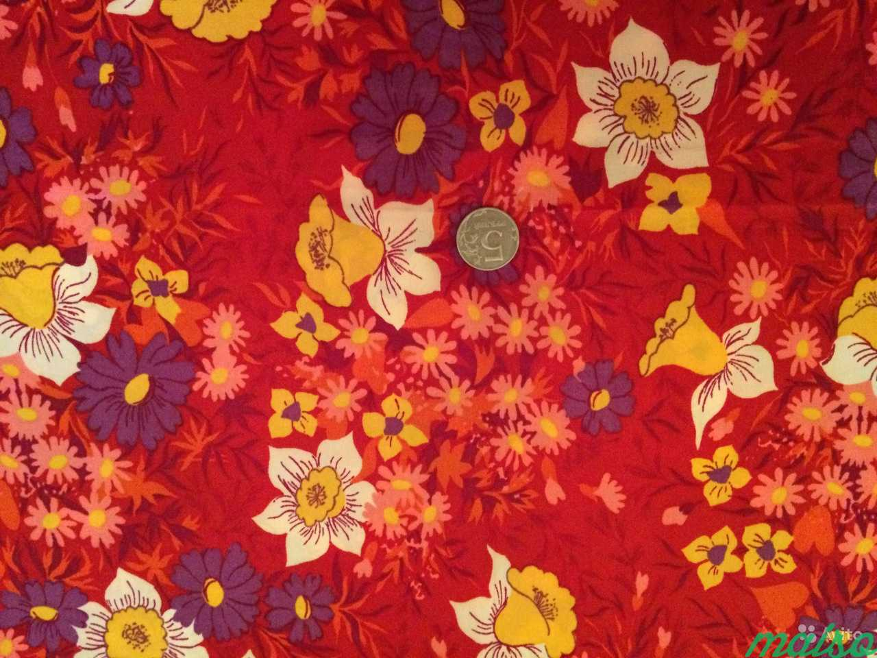 Ткань отрез - шёлк СССР в Москве. Фото 2