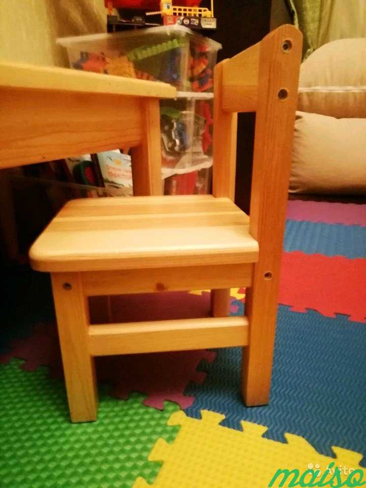 Стол и стул для детей от 1 до 3 лет в Москве. Фото 2