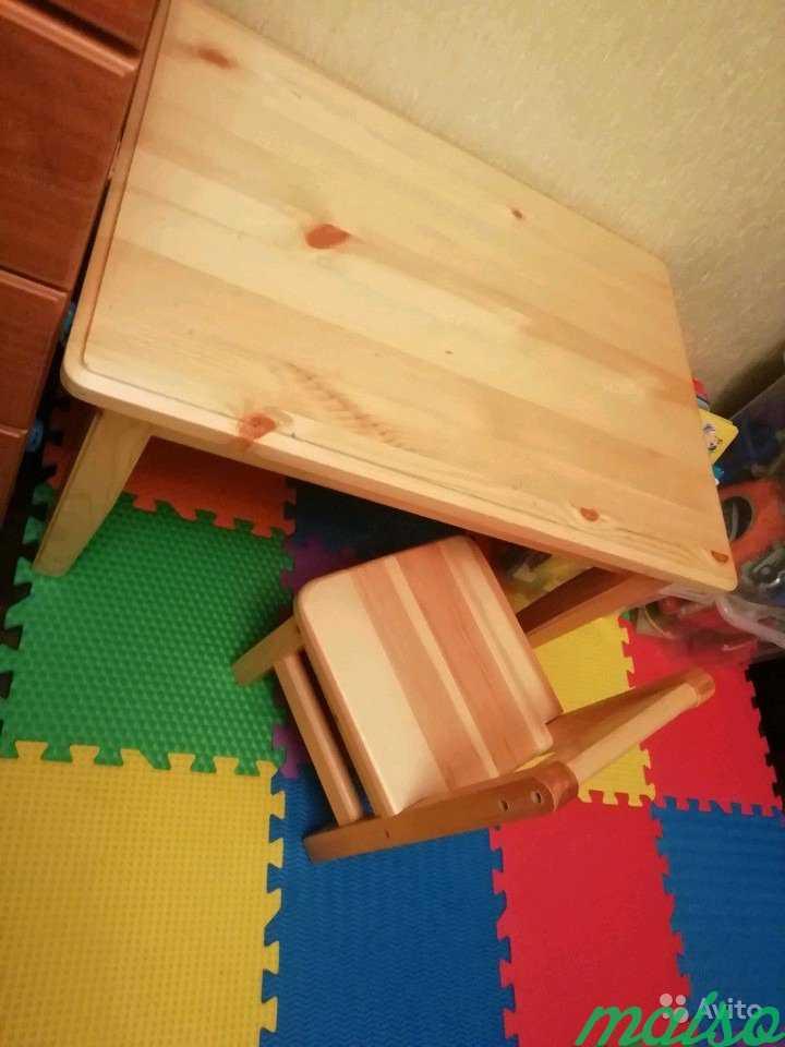 Стол и стул для детей от 1 до 3 лет в Москве. Фото 1