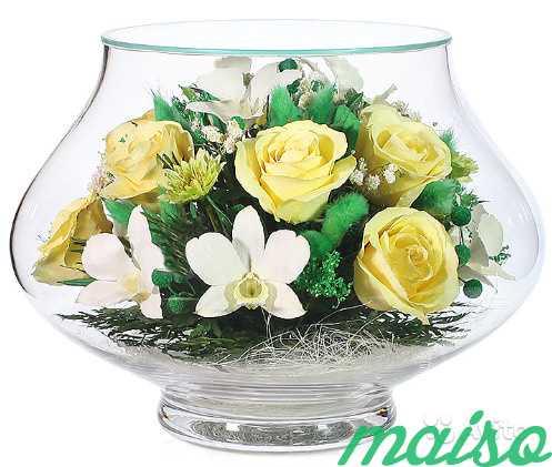 Цветы в вакууме не вянут 5лет-круглая ваза в Москве. Фото 9