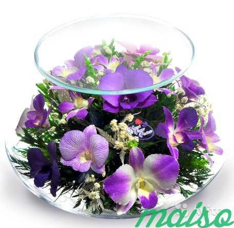 Цветы в вакууме не вянут 5лет-круглая ваза в Москве. Фото 6