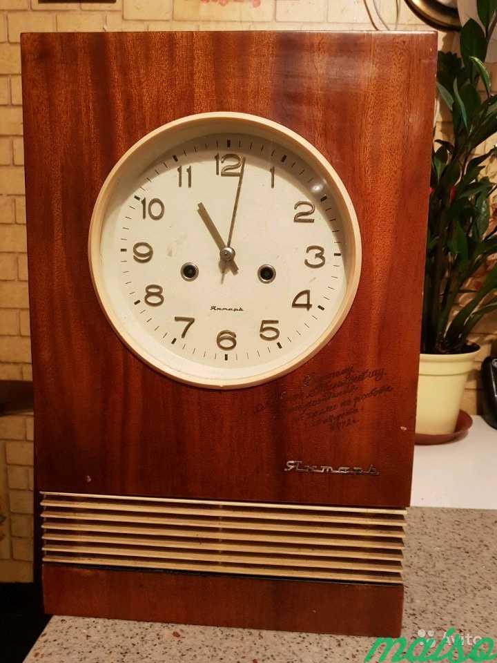 Часы настенные янтарь в Москве. Фото 1