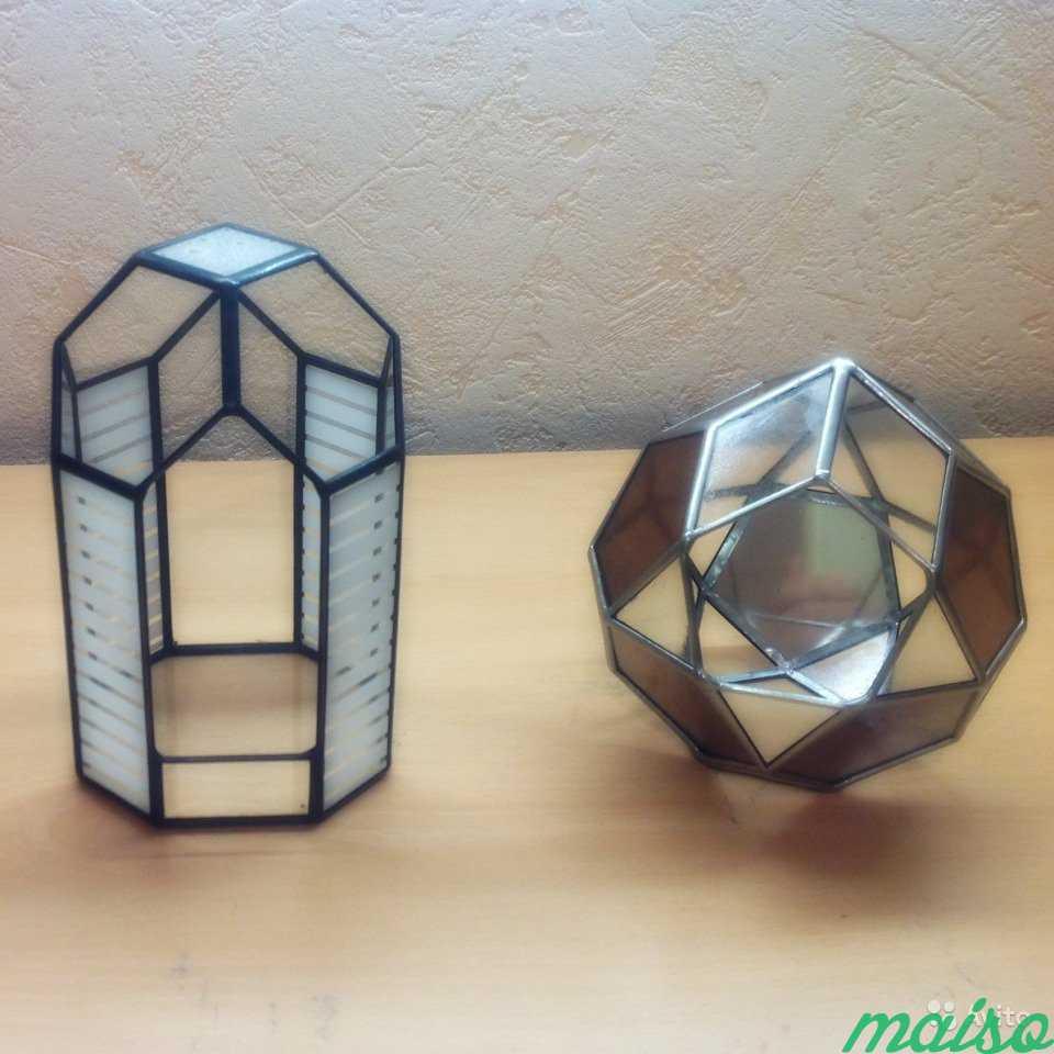 Геометрические фигуры из стекла в Москве. Фото 2