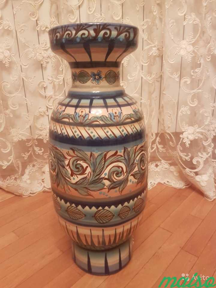 Керамическая напольная ваза в Москве. Фото 3
