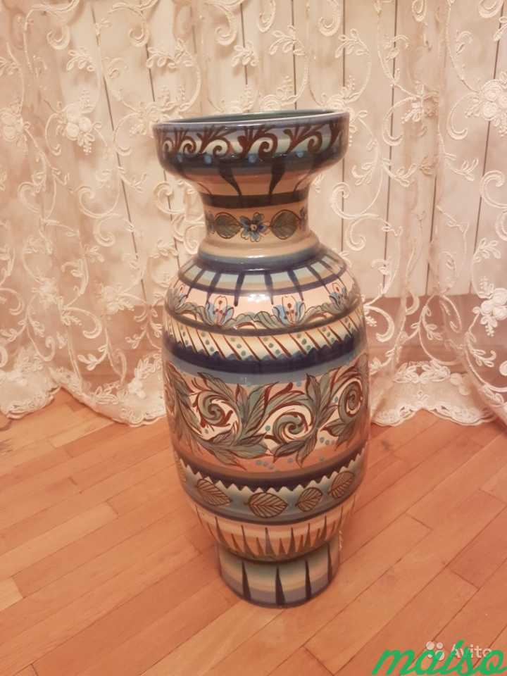 Керамическая напольная ваза в Москве. Фото 1