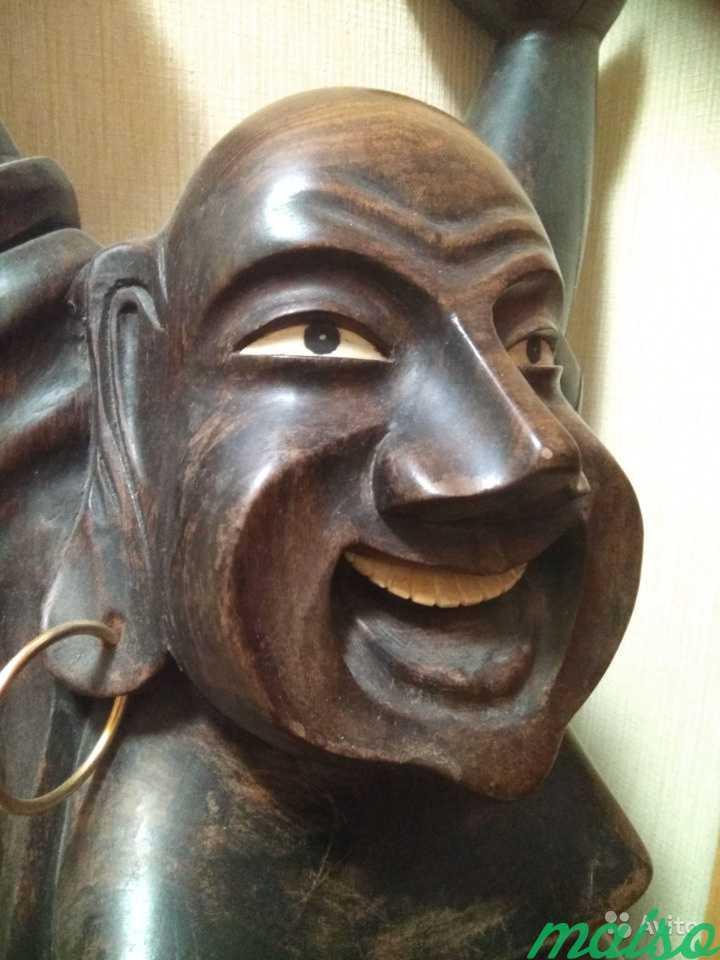 Статуя деревянная из Индии в Москве. Фото 3