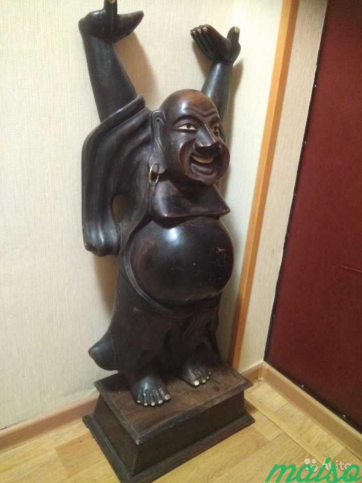 Статуя деревянная из Индии в Москве. Фото 1