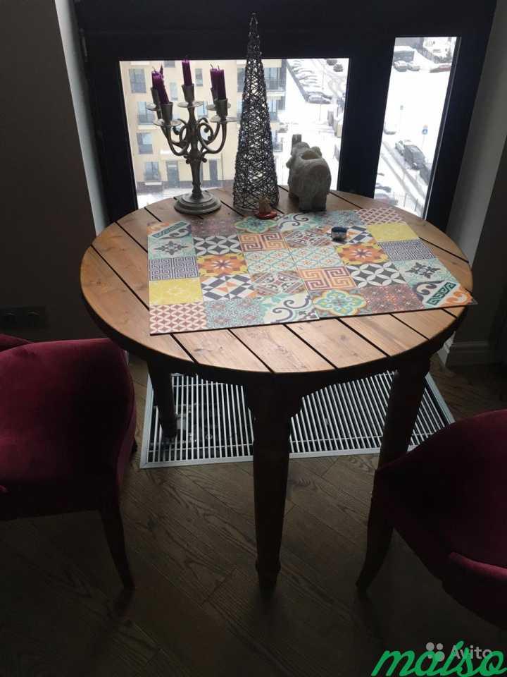 Стол круглый, деревянный, 88 см в Москве. Фото 2