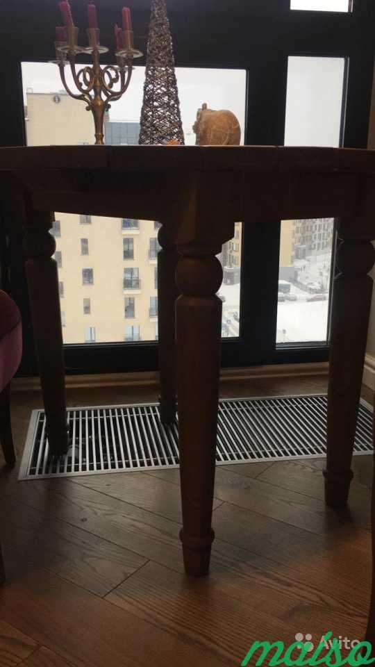 Стол круглый, деревянный, 88 см в Москве. Фото 3