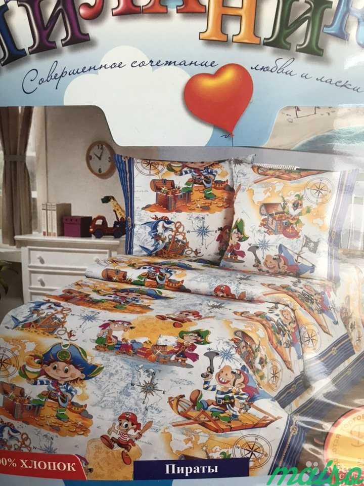 Белье постельное 1,5 детское Бязь в Москве. Фото 1