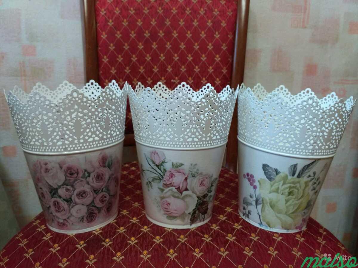 Цветочные горшки новые в Москве. Фото 2