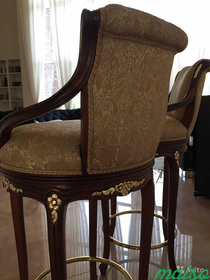 Новые барные стулья Angelo Cappellini с поворотным в Москве. Фото 4