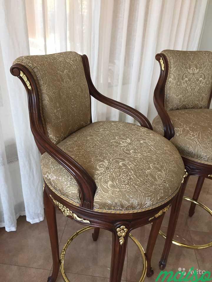 Новые барные стулья Angelo Cappellini с поворотным в Москве. Фото 2