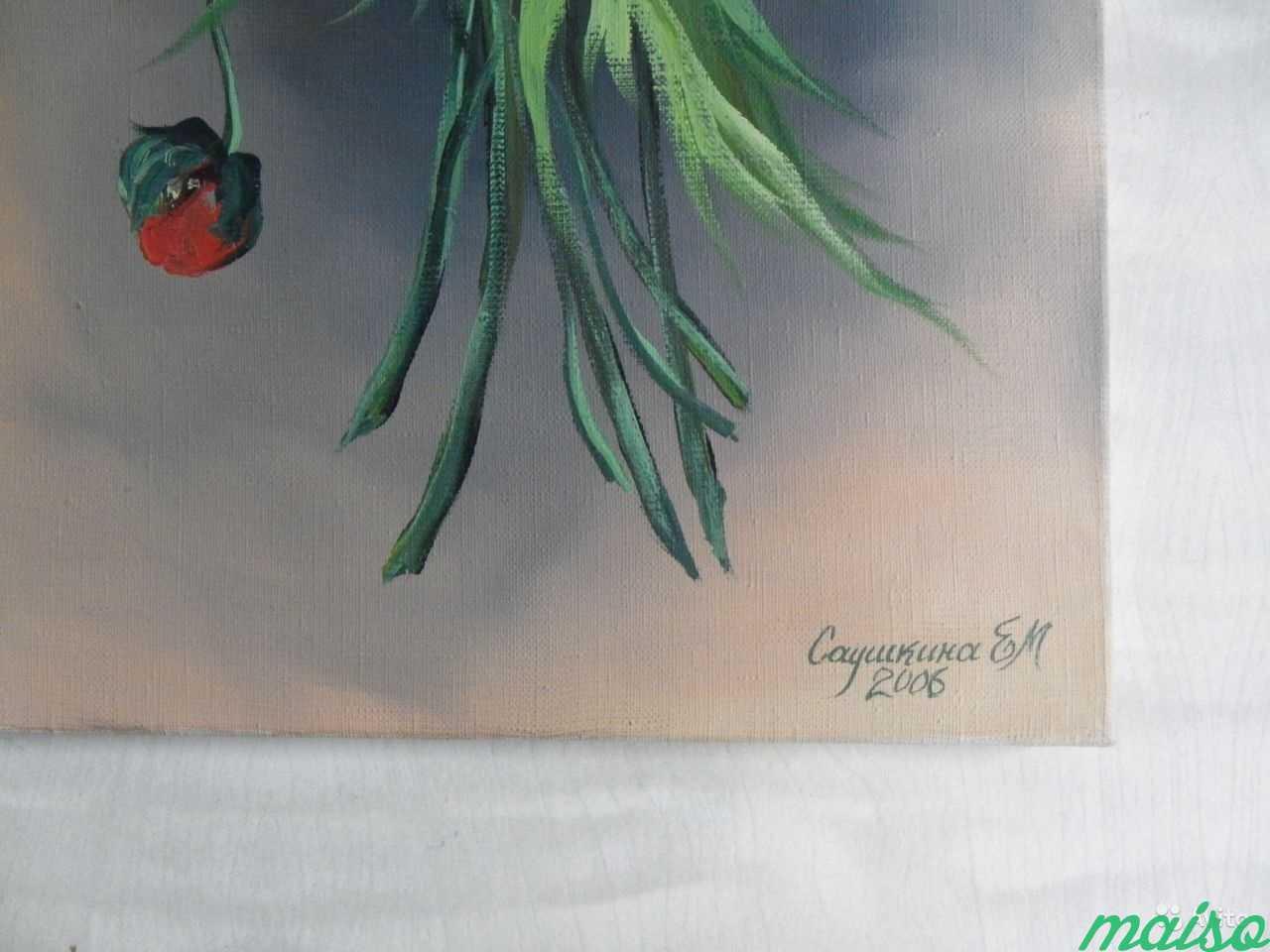 3 Картины маки,розы,сирень(авторской работы 2006г) в Москве. Фото 3