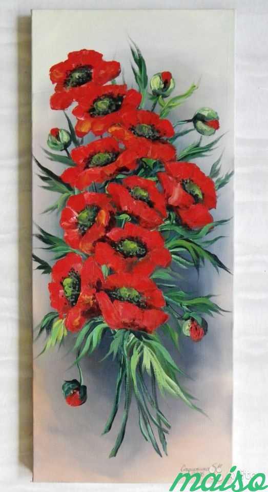 3 Картины маки,розы,сирень(авторской работы 2006г) в Москве. Фото 2