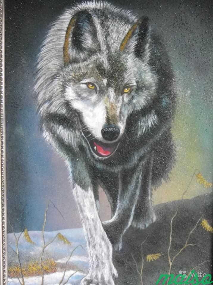 Картина Волк в серебристом багете в Москве. Фото 2