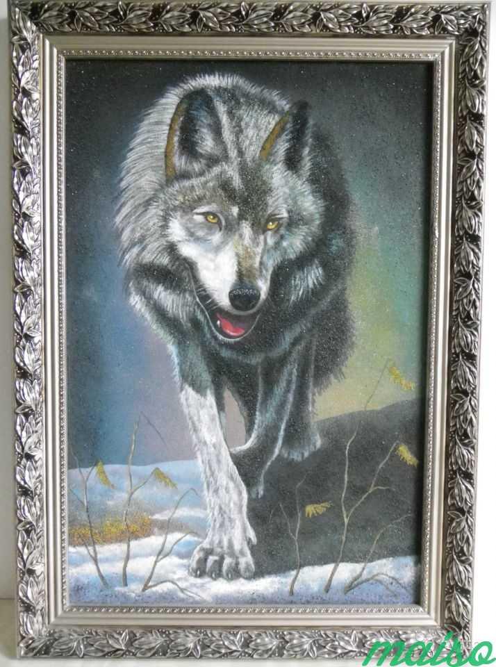 Картина Волк в серебристом багете в Москве. Фото 1