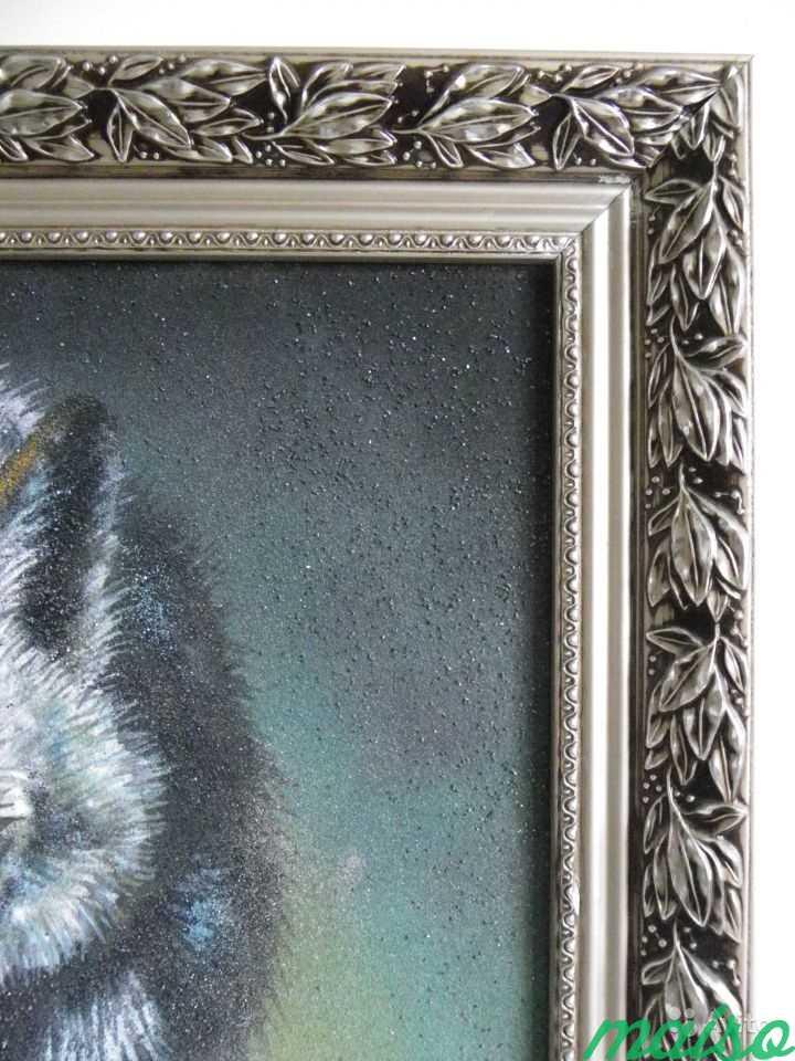 Картина Волк в серебристом багете в Москве. Фото 3