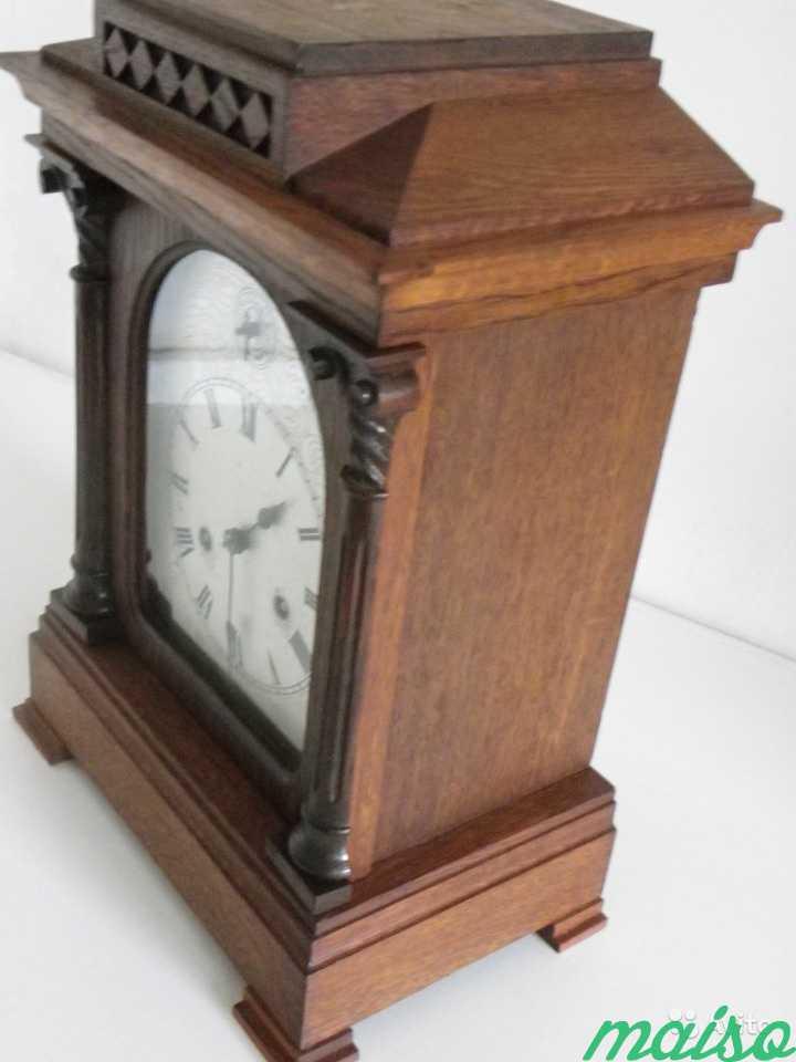Старинные четвертные немецкие часы(к.-19 века.) в Москве. Фото 2