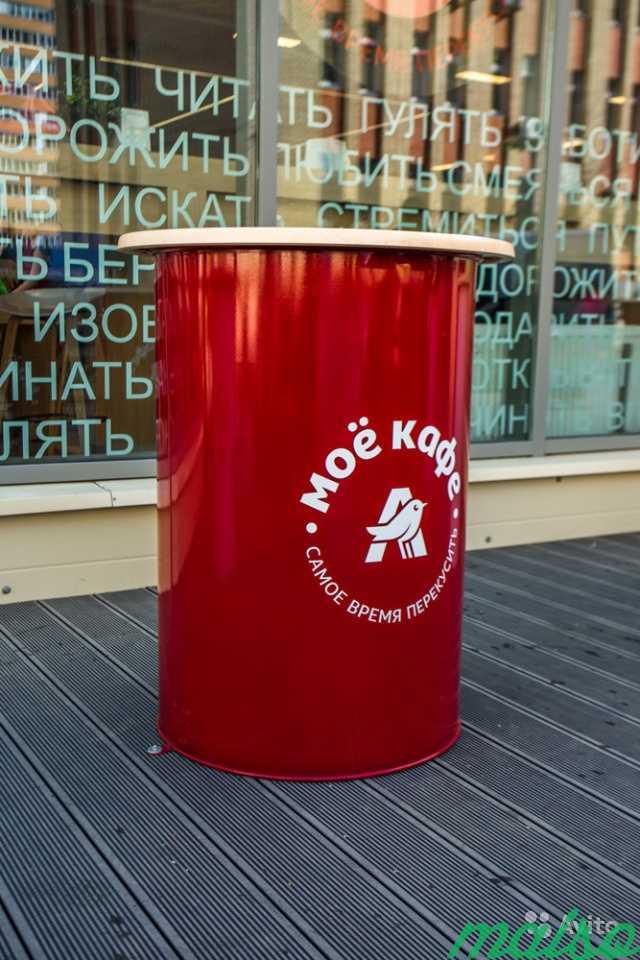 Бочка с логотипом и столешницей в Москве. Фото 1