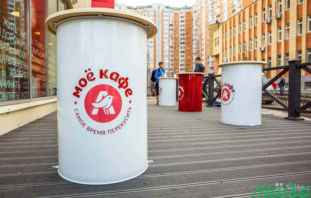 Бочка с логотипом и столешницей в Москве. Фото 2