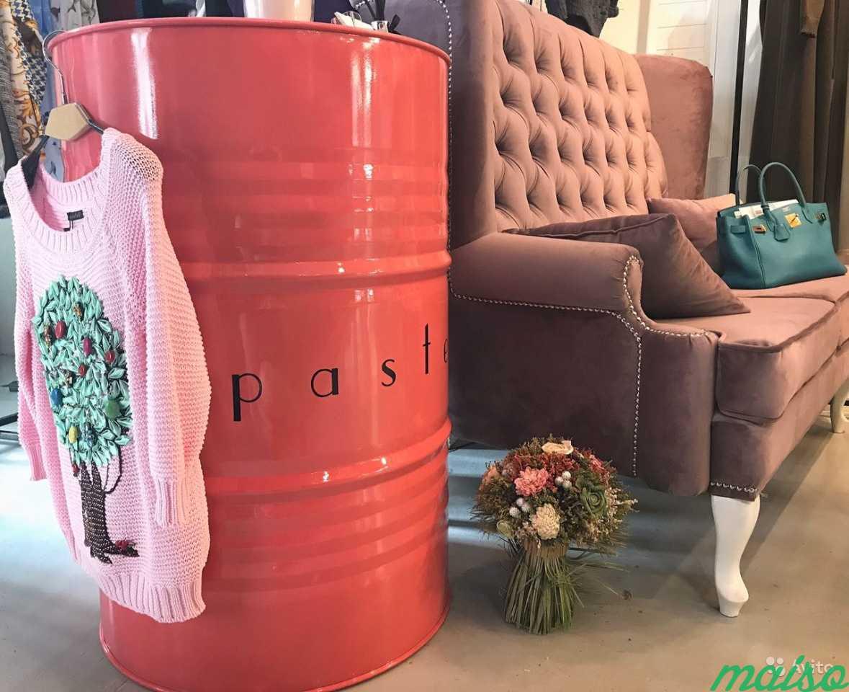 Дизайнерская бочка в стиле loft с логотипом в Москве. Фото 1