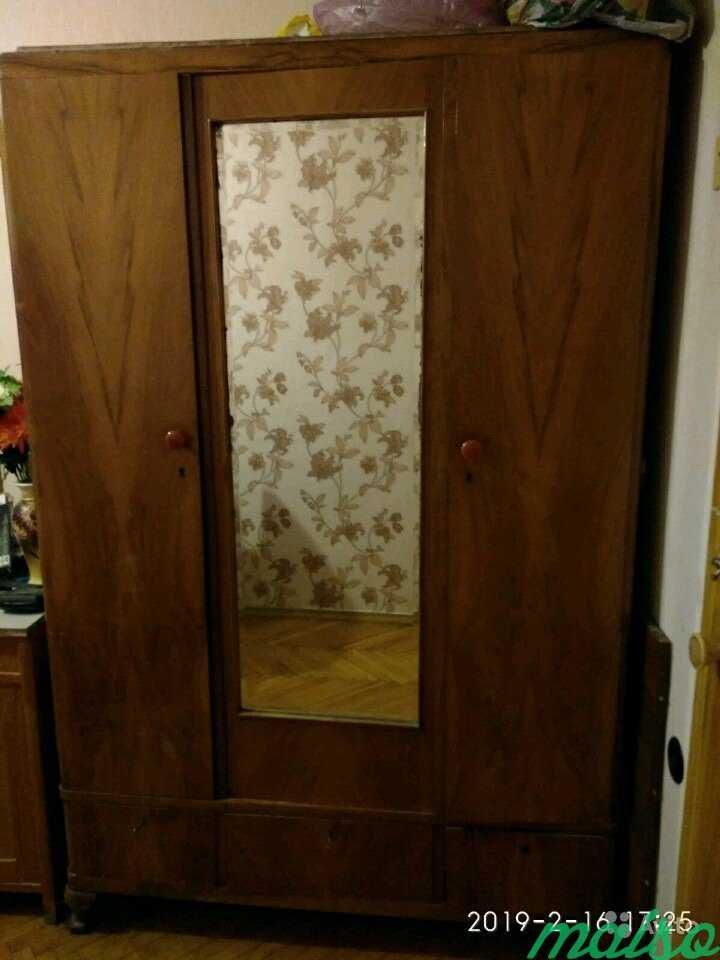 Шкаф гардероб с зеркалом в Москве. Фото 1