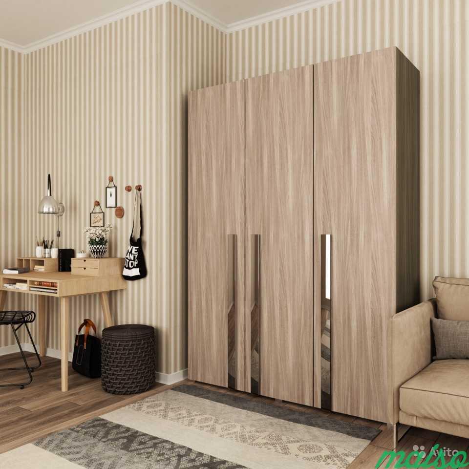 Распашной шкаф Дизайн-люкс новый с доставкой в Москве. Фото 1