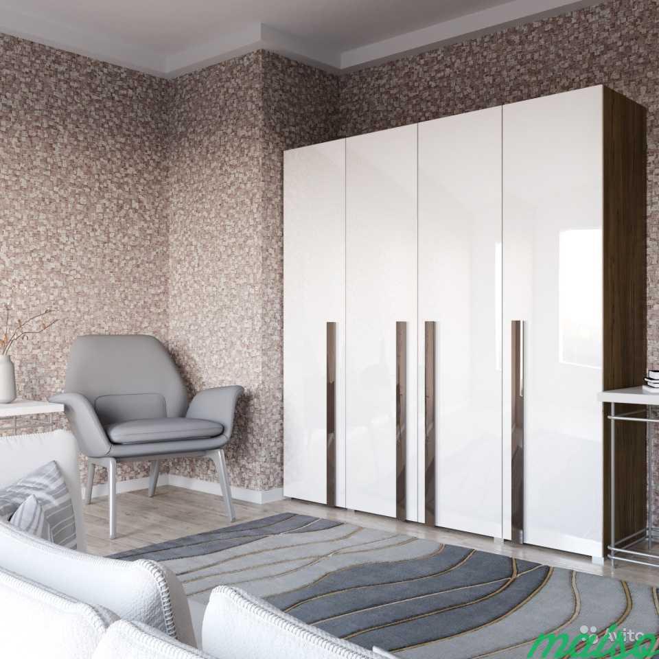 Распашной шкаф Дизайн-люкс новый с доставкой в Москве. Фото 3
