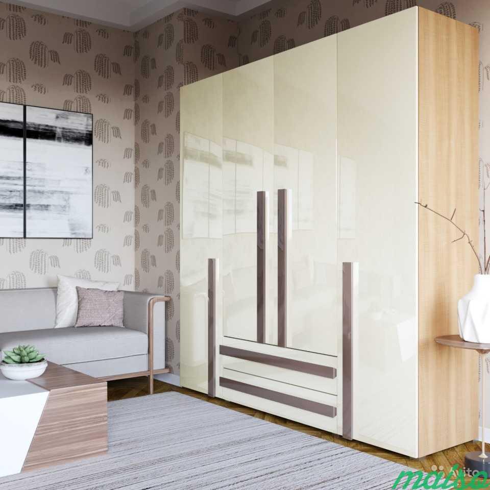 Распашной шкаф Дизайн-люкс новый с доставкой в Москве. Фото 4
