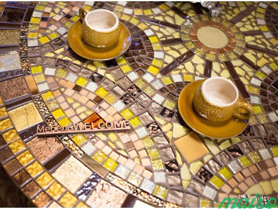 Круглый стол мозаика в Москве. Фото 4