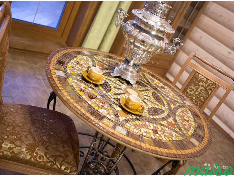 Круглый стол мозаика в Москве. Фото 6