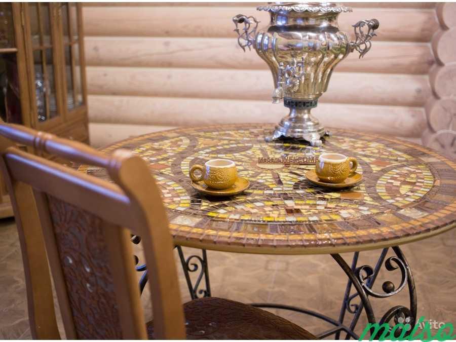 Круглый стол мозаика в Москве. Фото 5
