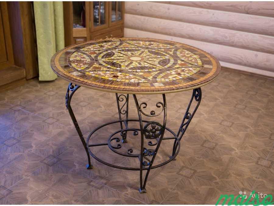 Круглый стол мозаика в Москве. Фото 1