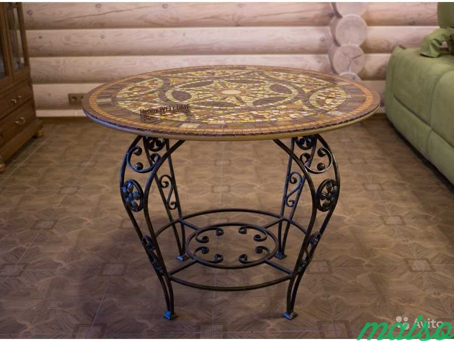 Круглый стол мозаика в Москве. Фото 7