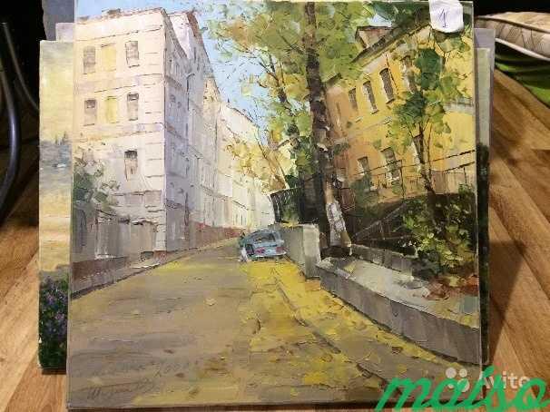 Картина Шадои В. старыи город 60*60 в Москве. Фото 1