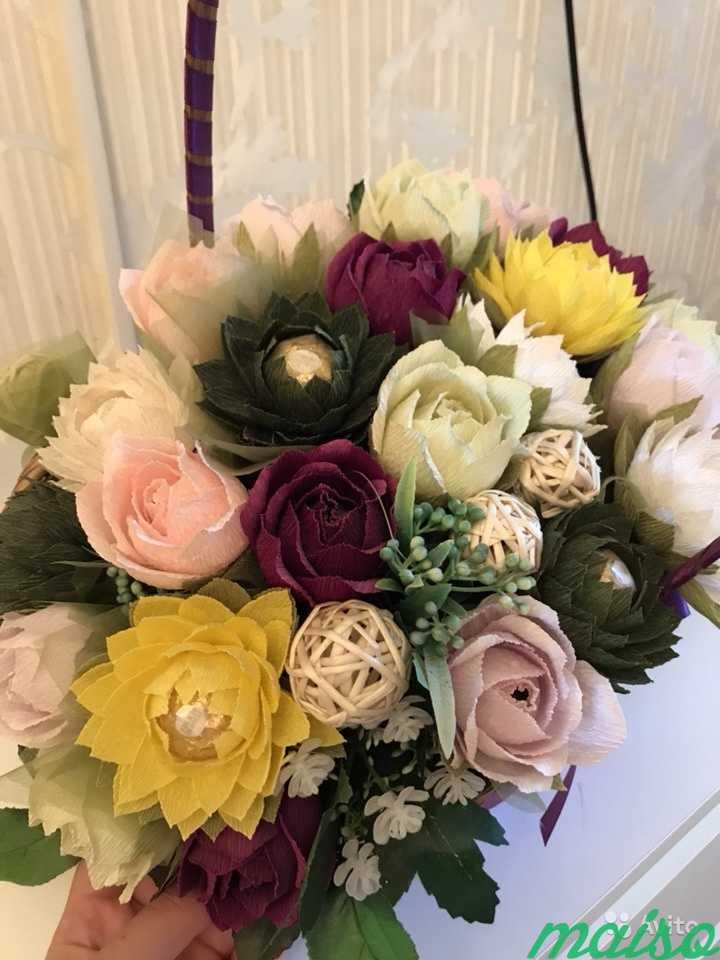 Корзина цветов в Москве. Фото 1