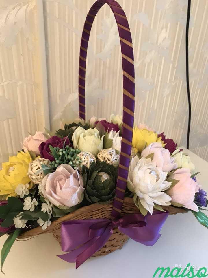 Корзина цветов в Москве. Фото 2