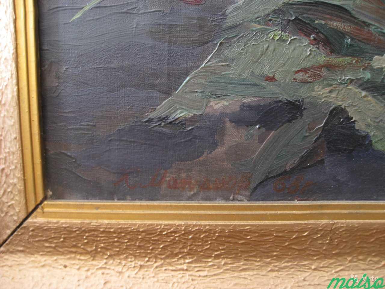 Картина «Пионы». Молчанов К.М.(Х.м.), 80 х 60 см в Москве. Фото 2