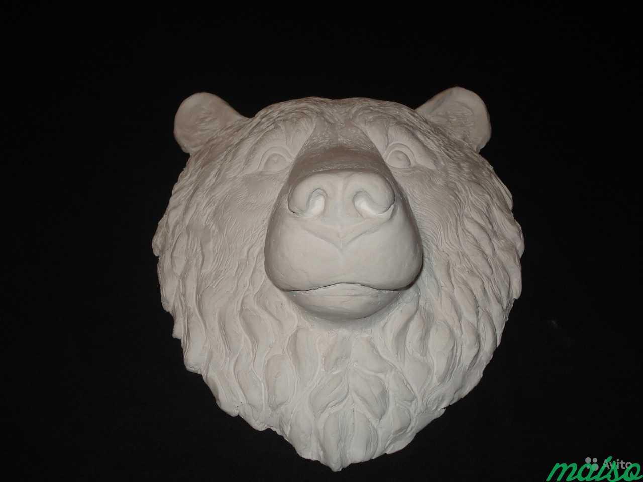 Барельеф Голова медведя в Москве. Фото 2
