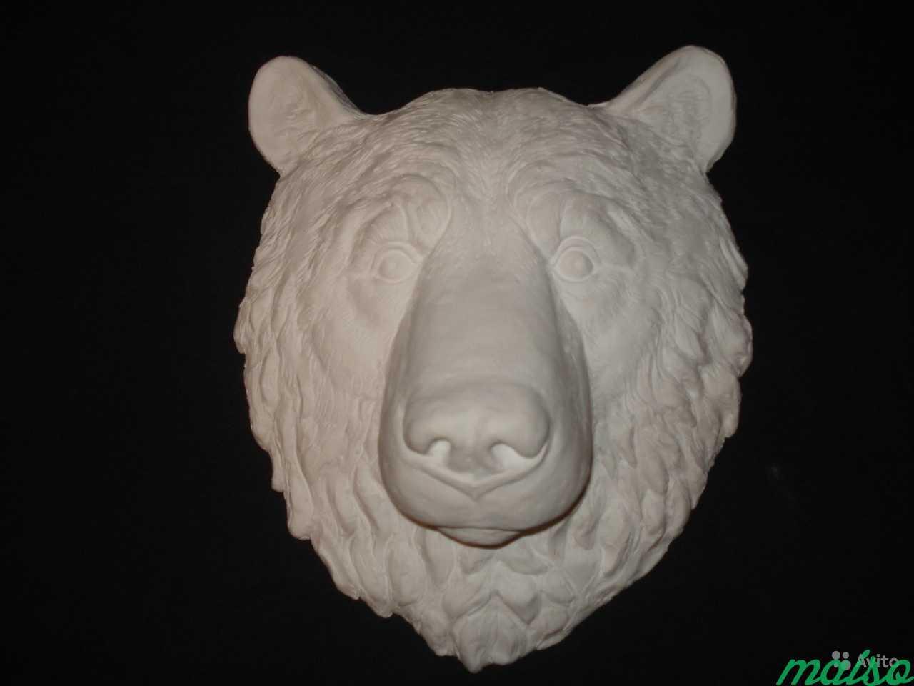 Барельеф Голова медведя в Москве. Фото 1
