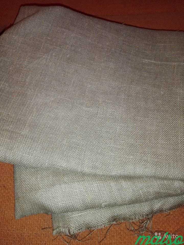 Отрез ткани лен мешковина 2х3 в Москве. Фото 1