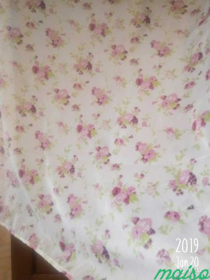 Лёгкая тюль, цветочный принт в Москве. Фото 3