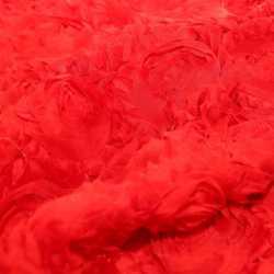 Отрез ткани Роза на сетке