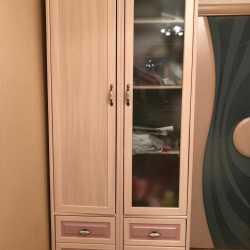 2 узких шкафа в провансальском стиле