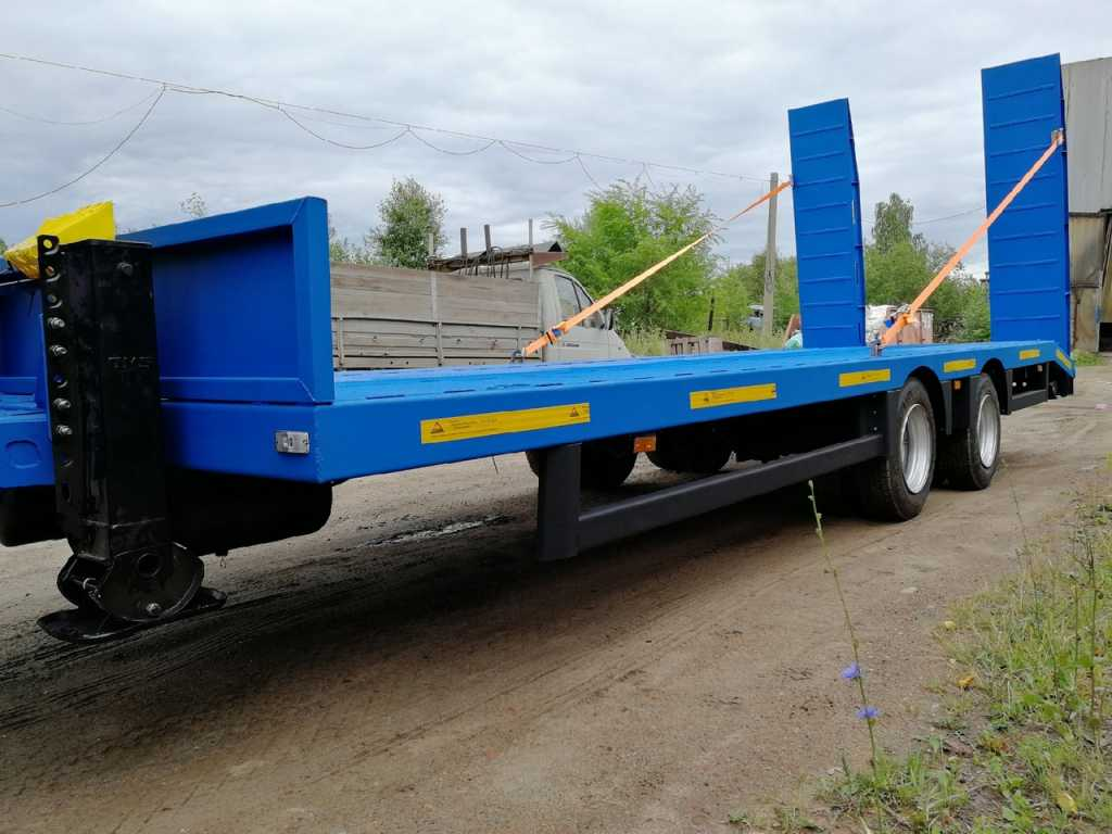 Низкорамный прицеп для перевозки спец техники до 9 тонн в Москве. Фото 2