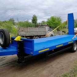 Низкорамный прицеп для перевозки спец техники до 9 тонн