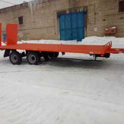 Низкорамный прицеп для перевозки спец техники до 8 тонн