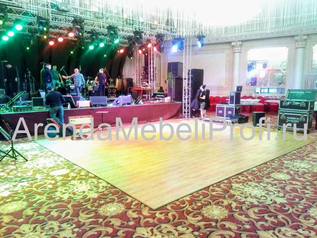 Танцевальный пол в аренду для мероприятия, аренда мобильного танцпола в Москве. Фото 7
