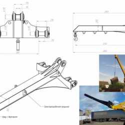 Удлинительный гусек EXTEN серии CB для фронтальных погрузчиков